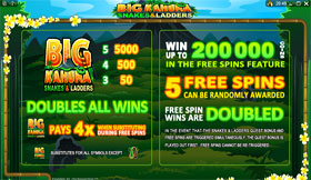 Big Kahuna Snakes And Ladders Paytable 1