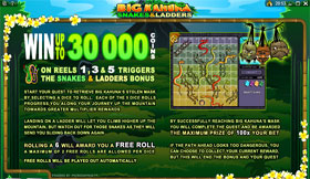 Big Kahuna Snakes And Ladders Paytable 2