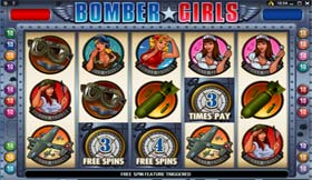 Bomber Girl Free Spins Triggered
