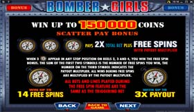 Bomber Girls Pay Table