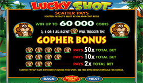 Lucky Shot PayTable 1