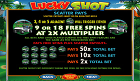Lucky Shot PayTable 3