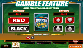 Soccer Safari Gamble Feature