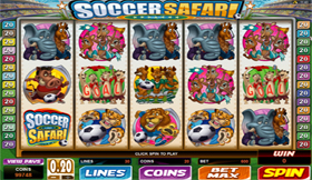 Soccer Safari Slot Main Screen