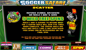 Soccer Safari Paytable 2