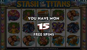 Stash Of The Titans Free Spins
