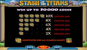 5x Stash Of The Titans On Paid line 1 - 20 Wins Up To 50,000