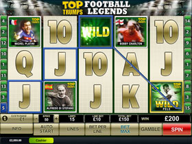 Top Trumps World Football Legends Slot Main Page